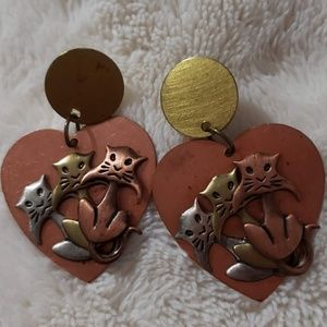 Jewelry - Earrings with Copper Brass and Silver